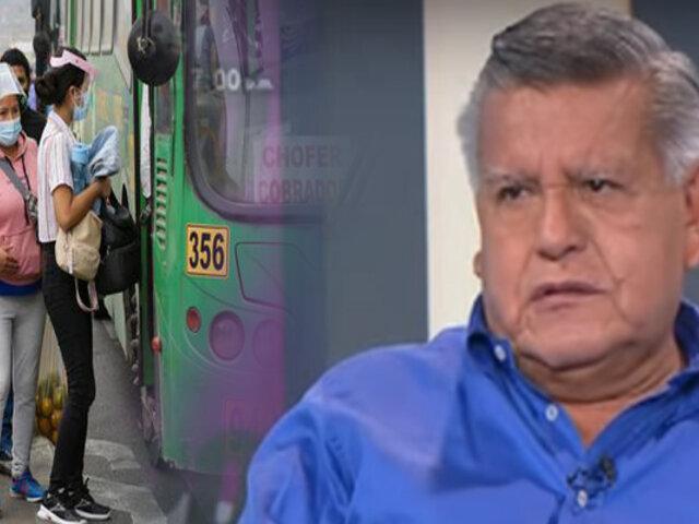 ¿Qué propone César Acuña para mejorar el transporte?
