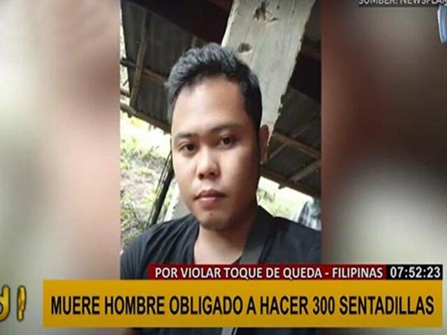 Filipinas: joven de 28 años murió luego que lo obligaran a hacer 300 sentadillas