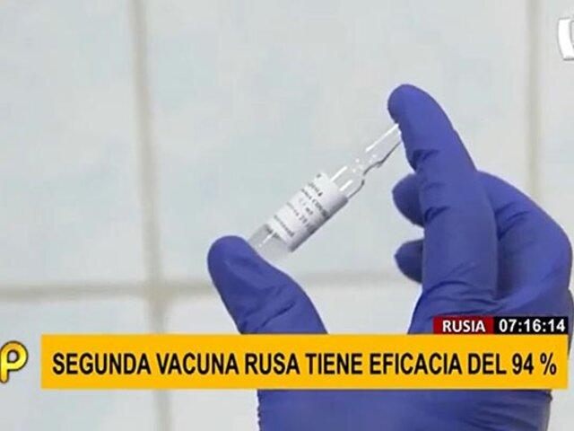 EpiVac Corona: segunda vacuna rusa ofrecería 94% de eficacia