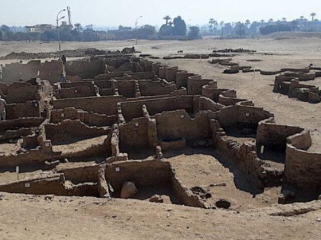 Egipto: encuentran bajo la arena una gran ciudad faraónica de hace 3 mil años