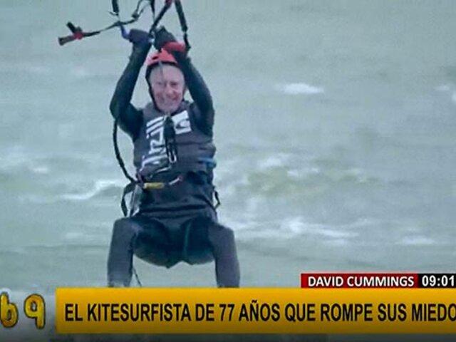 Anciano de 77 años vuelve a la vida gracias al 'kitesurfing'