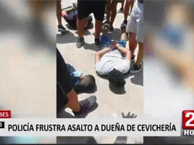 Policía frustra asalto a dueña de cebichería en Tumbes