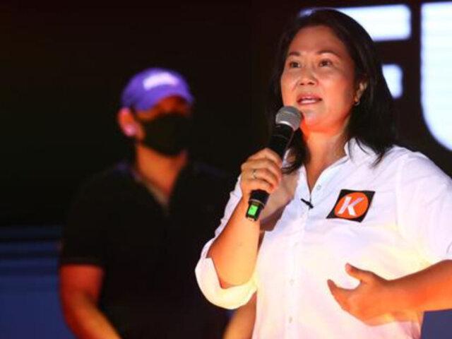 """Keiko Fujimori: """"Queda claro que Pedro Castillo parece representante de Evo Morales"""""""