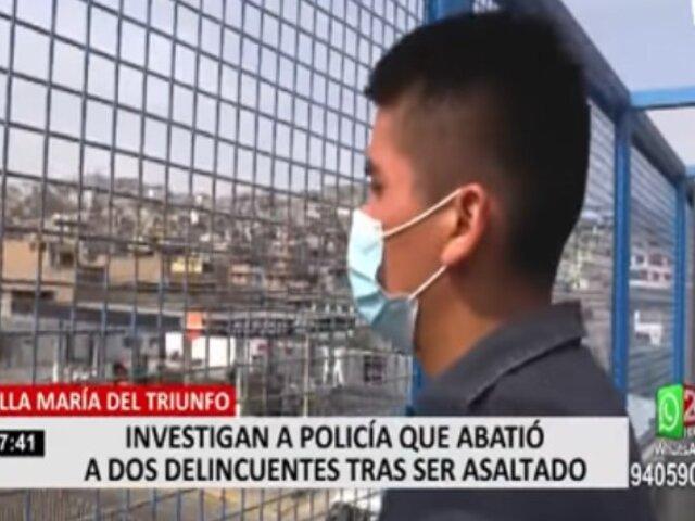 VMT: investigan a policía que abatió a delincuentes tras ser asaltado