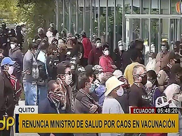 Ecuador: reemplazan a Ministro de Salud por caos en proceso de vacunación