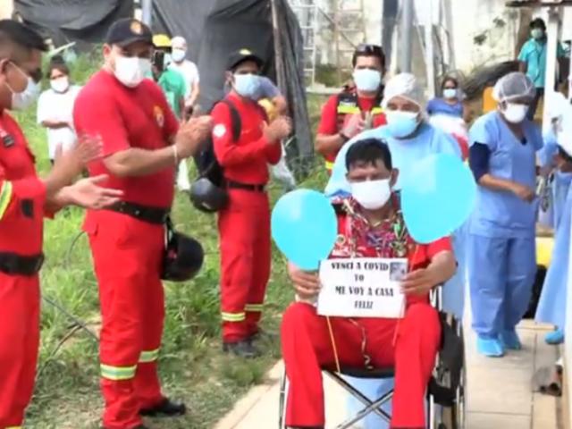 Madre de Dios: entre aplausos dan alta a jefe de bomberos que venció al COVID-19