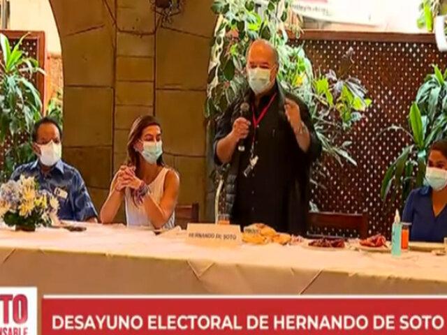 Hernando de Soto: candidato realizará desayuno electoral en un restaurante de Surco