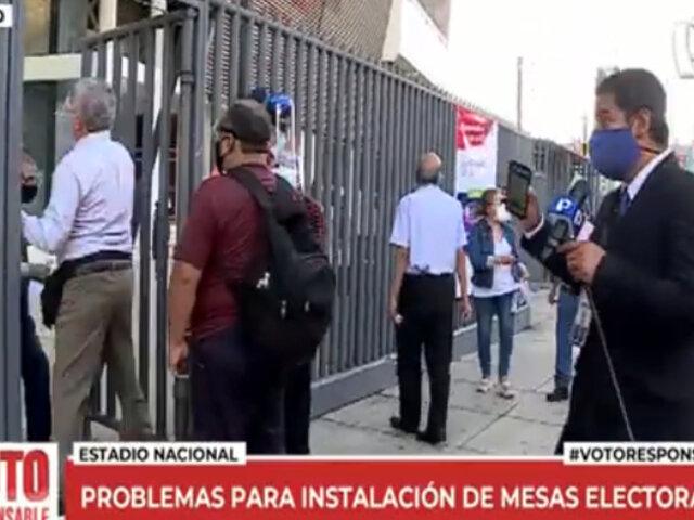 Elecciones 2021: reportan colas y demoras en instalación de mesas en Estadio Nacional