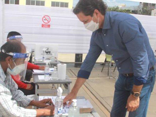 Elecciones 2021: Daniel Salaverry emitió su voto desde Trujillo