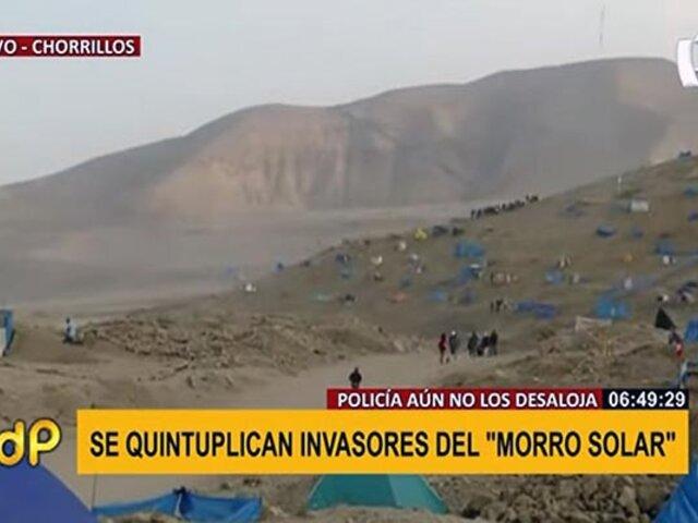 Chorrillos: se quintuplicó número de invasores del Morro Solar durante fin de semana