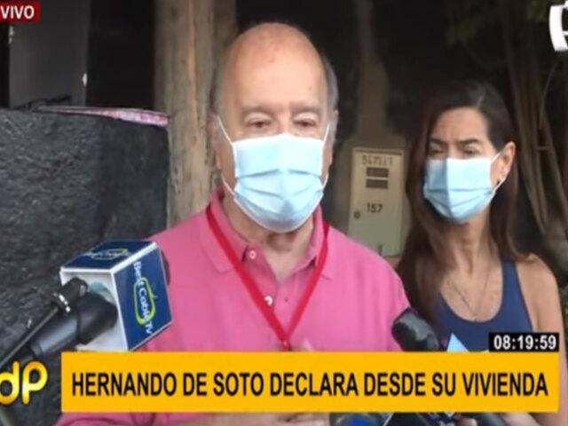 Hernando de Soto sobre trabajar junto a Keiko Fujimori: Voy a estudiar propuesta