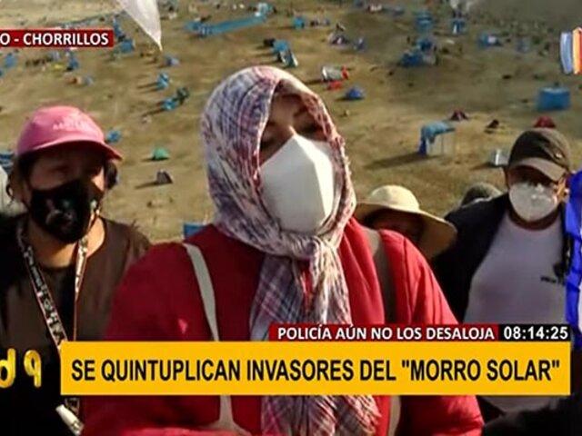 """Invasores de Morro Solar solicitan apoyo: """"Queremos paz, pedimos un terreno donde vivir"""""""