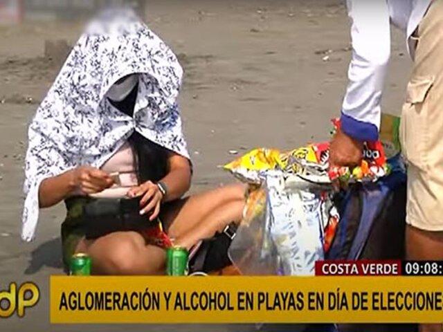 Decenas de personas acudieron a las playas de la Costa Verde durante elecciones