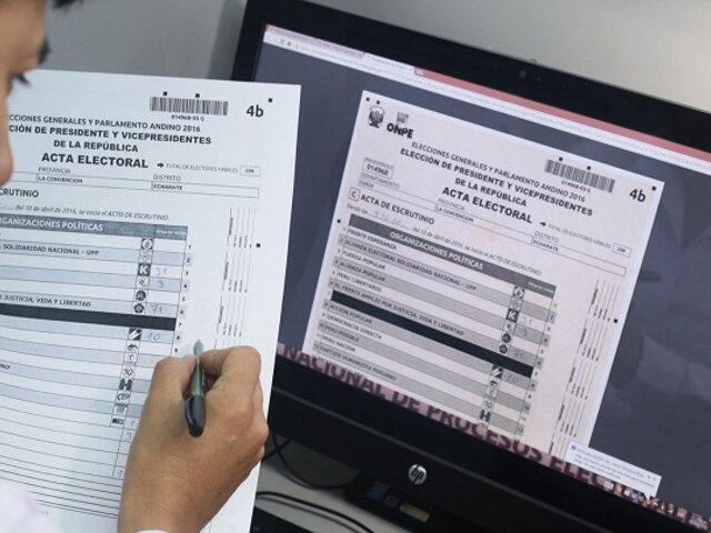 JNE priorizará actas observadas de candidatos que pasen a segunda vuelta