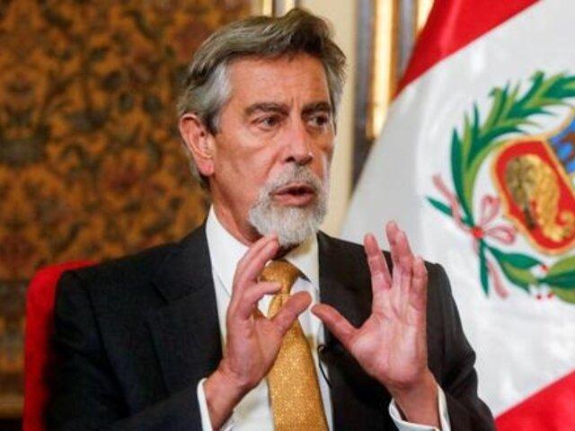 Congreso: presentan moción de censura contra Francisco Sagasti