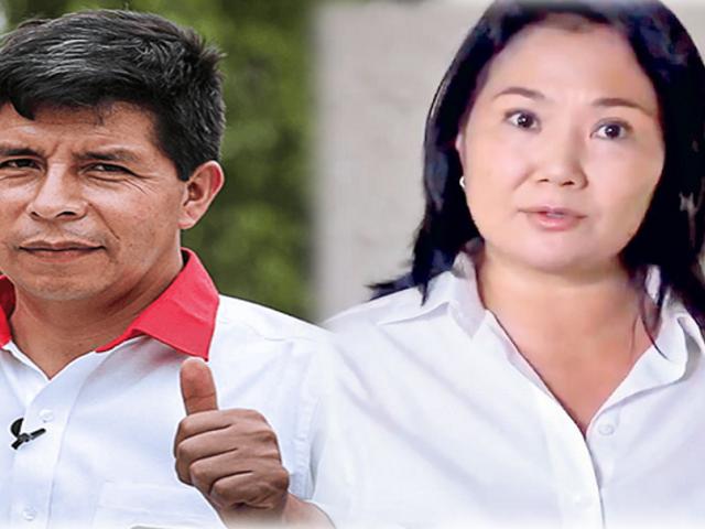 Segunda vuelta: Castillo lidera las preferencias con 42 % y Fujimori alcanza 31%, según Ipsos