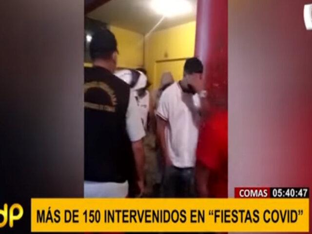 Comas: más de 150 personas fueron intervenidas en dos fiestas covid