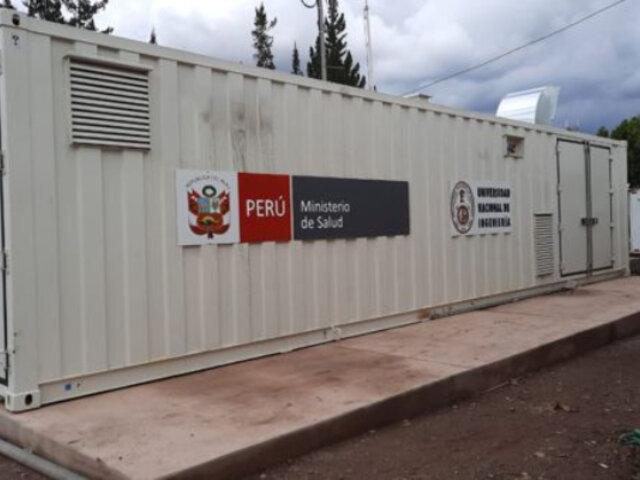 Cusco: planta móvil de oxígeno enviada por el Minsa está cerrada desde hace un mes