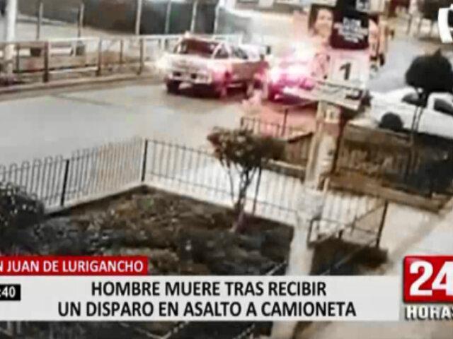 Delincuentes matan a hombre para robarle su camioneta en SJL