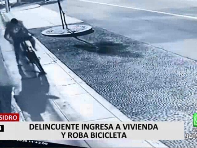 San Isidro: delincuentes ingresan a vivienda y roban bicicleta