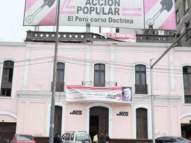 Acción Popular definirá el 15 de mayo su apoyo para segunda vuelta