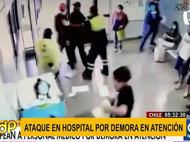 Chile: atacan violentamente a personal médico en hospital por demora en atención