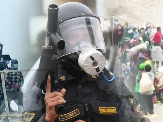 Morro Solar: invasores lanzan piedras contra la Policía para evitar ser desalojados