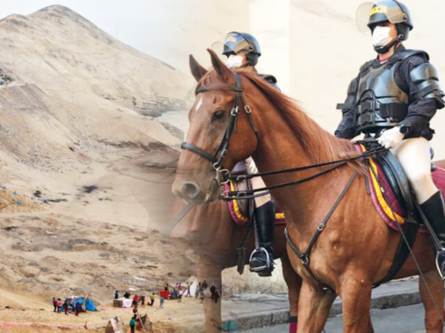 """PNP vuelve a tomar el control del """"Morro Solar"""" en Chorrillos"""