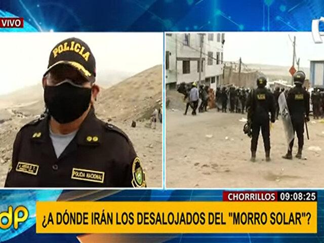 """Gral. PNP Angulo sobre desalojo en Morro Solar: """"fue un operativo muy planificado"""""""