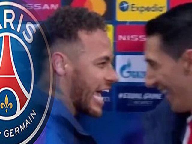 Di María fue sorprendido por Neymar en conferencia de prensa