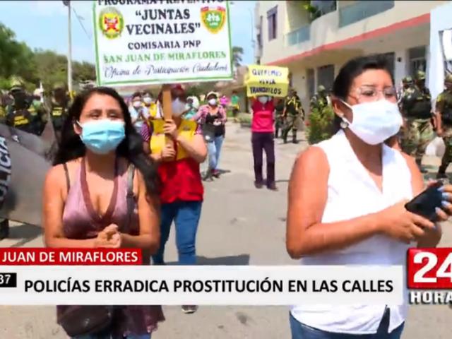 SJM: policía finalmente erradicó prostitución en la Urb. Entel
