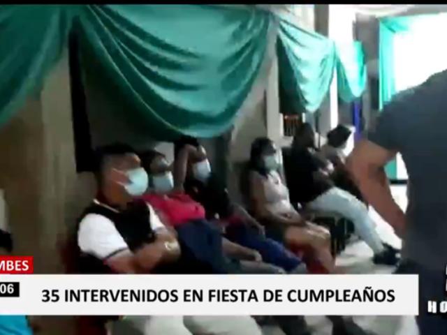 Tumbes: intervienen a más de 30 que celebraban fiesta en Zarumilla