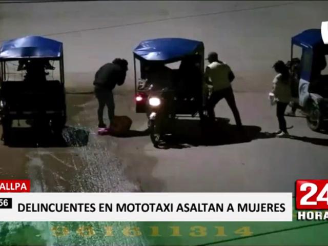 Pucallpa: 'raqueteros' asaltaron a pasajeros de mototaxi