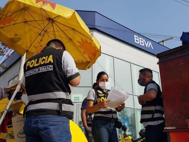 Rímac: delincuentes armados ingresaron a robar a agencia del BBVA