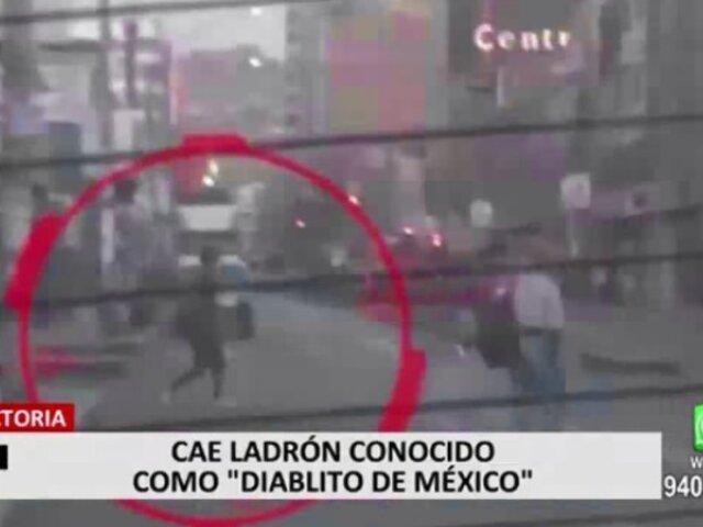 """PNP capturó a raquetero """"El Diablo de México"""" quien asaltaba a transeúntes y pasajeros"""