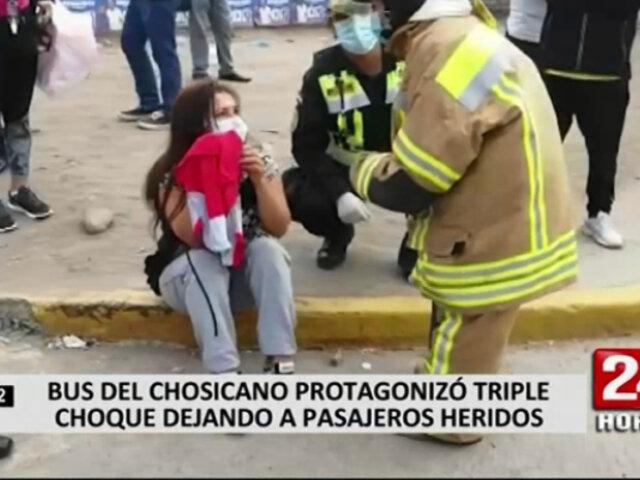 Triple choque dejó alrededor de 20 heridos en Chosica