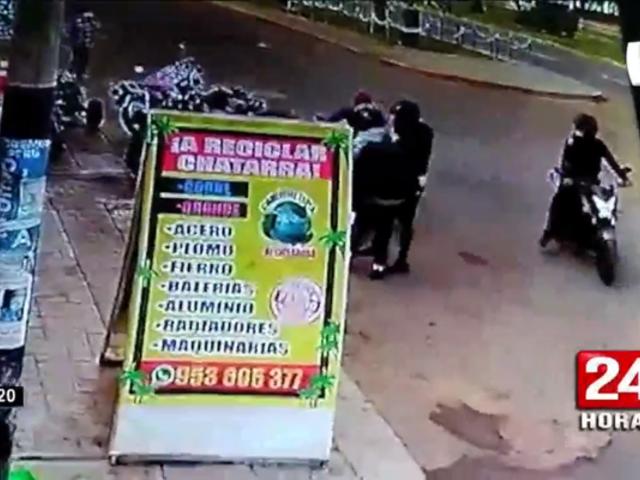 Chorrillos: delincuentes en moto asaltan repartidor