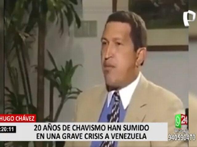Hugo Chávez: 20 años de chavismo han sumido en una grave crisis a Venezuela