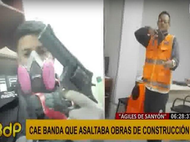 Caen delincuentes que pertenecían a banda que asaltaba obras de construcción