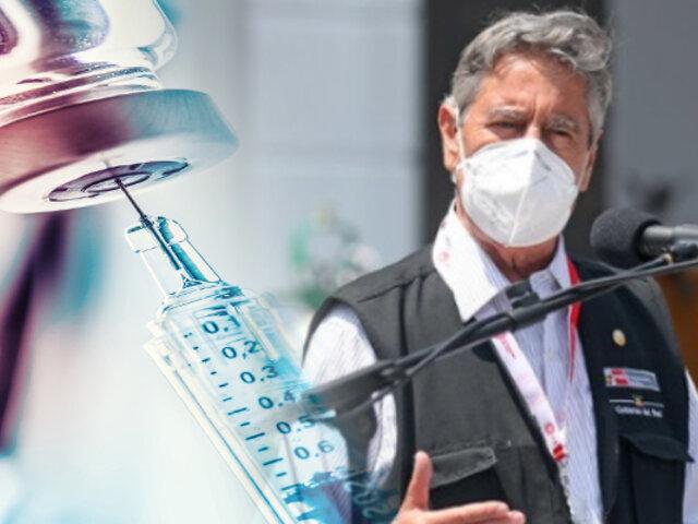"""Sagasti: """"Ya hay contrato firme para vacunar a todos los mayores de 18 años"""""""