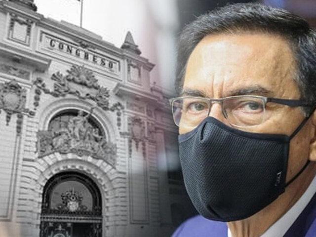 Martín Vizcarra no asistió a pleno del Congreso donde se define su inhabilitación