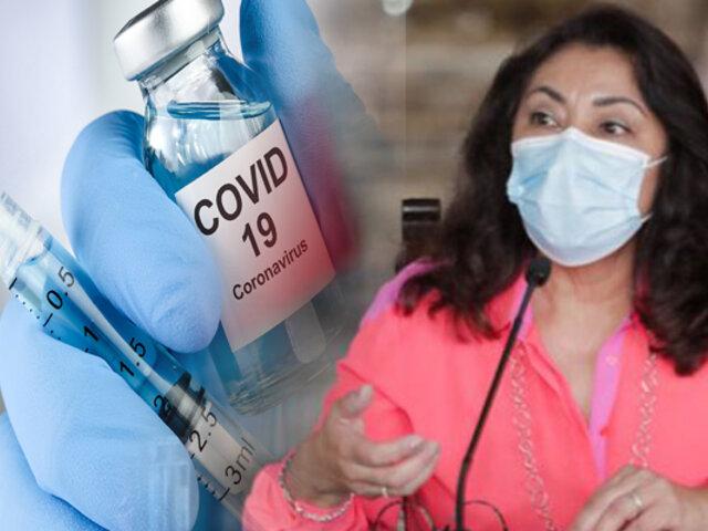 """Violeta Bermúdez: """"Tan pronto lleguen vacunas de otros laboratorios, cubriremos todo el país"""""""