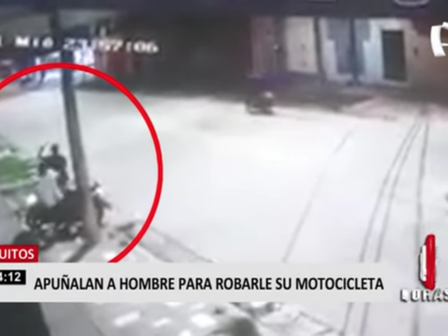 Apuñalan a hombre para robarle su moto en Iquitos