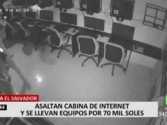 Delincuentes asaltan cabina de internet en VES y se llevan equipos valorizados en 70 mil soles