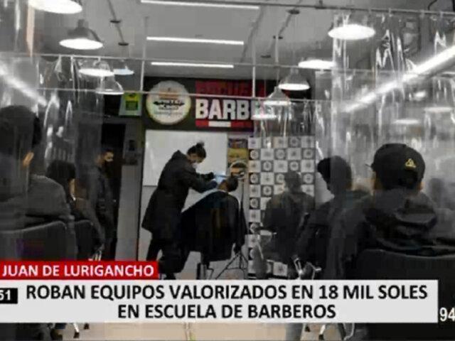SJL: delincuentes asaltan escuela de barberos y se llevan equipos por un valor de 18 mil soles
