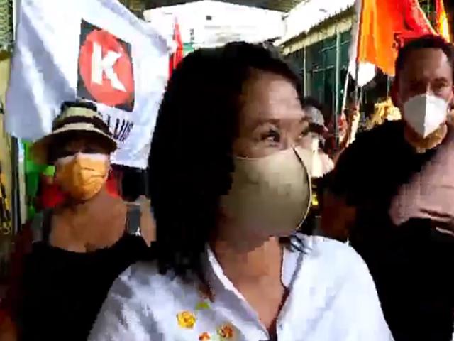 San Luis: Keiko Fujimori agradece apoyo del escritor Mario Vargas Llosa