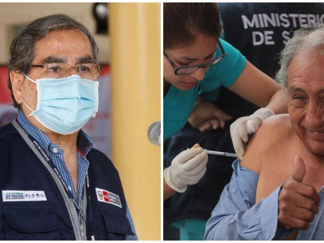 Covid-19: Vacunación de adultos mayores en Lima terminará a finales de abril, afirma Ugarte