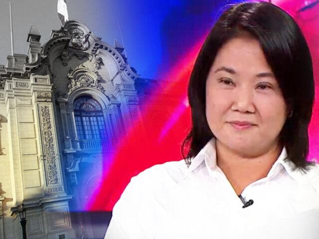 """Keiko: """"Si es que el pueblo peruano me da la confianza gobernaré 5 años, ni un solo día más"""""""