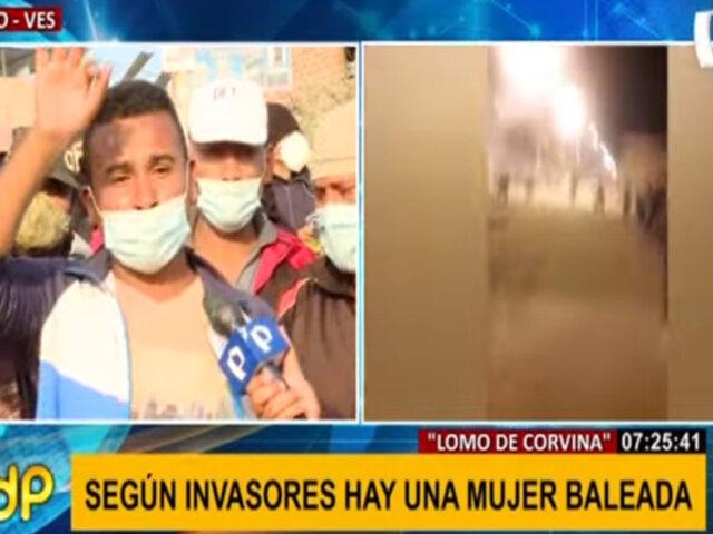 Invasores en Lomo de Corvina aseguran que hay una mujer baleada tras enfrentamientos