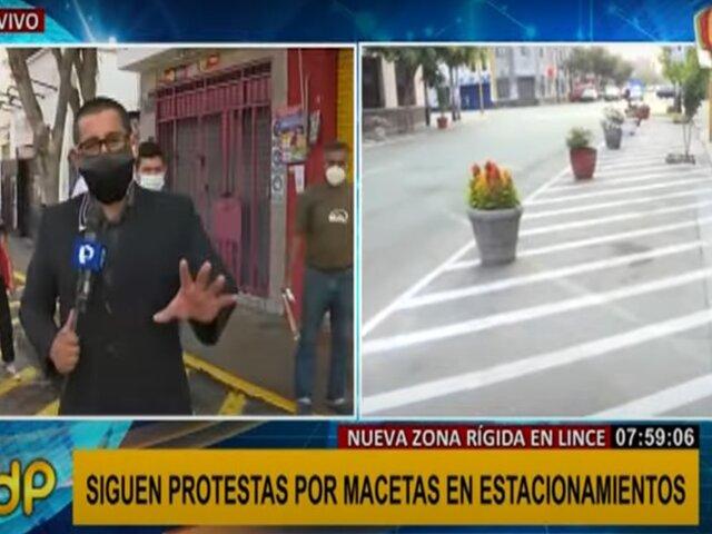 Lince: comerciantes reclaman por la inhabilitación de estacionamientos